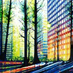 Brilliant Urban Landscapes Painted With Gravity