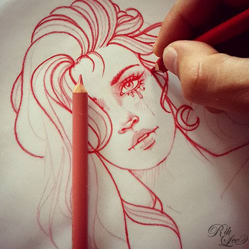 rik lee  the art of drawing and illustration