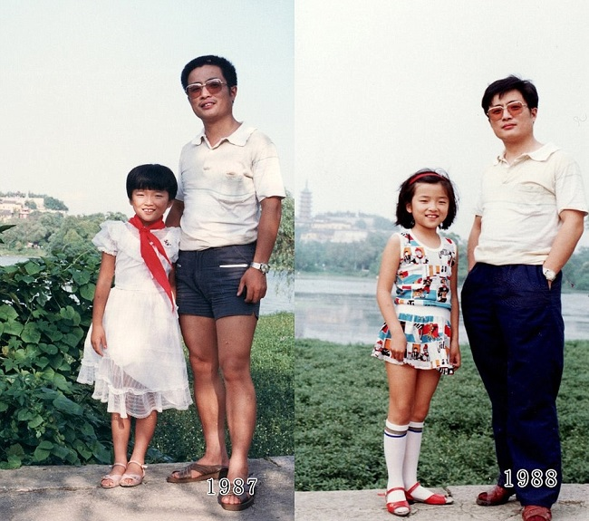 father and daughter 1987-1988