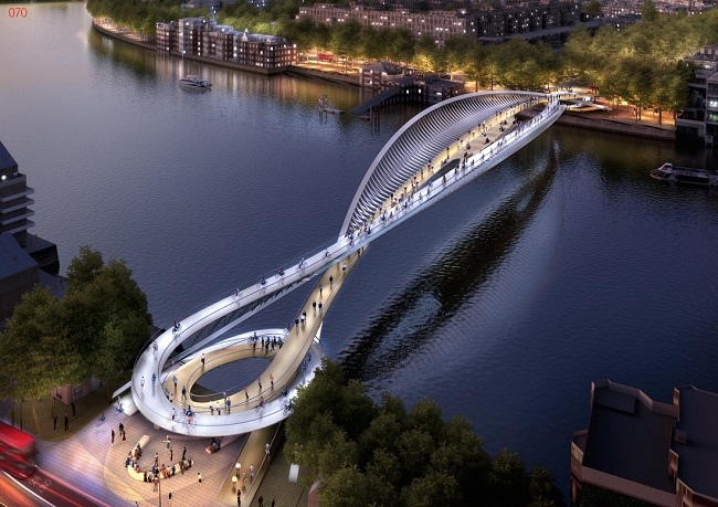 London 39 s new bridge might end up being a futuristic work for Design bridge london