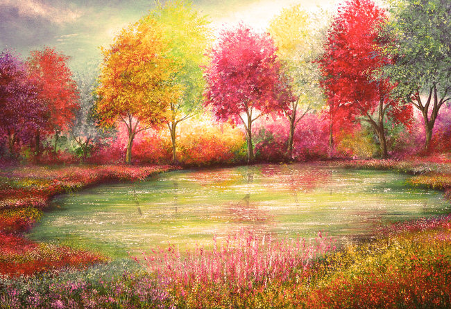 The Beauty Of Nature Depicted In Gorgeous Vibrant Paintings