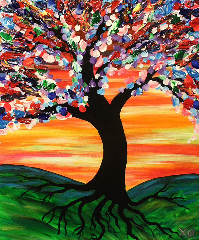 Blind Artist Creates Amazingly Colorful Paintings - Blind artist