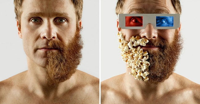 man-shaves-half-beard-cover