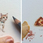 Incredibly Detailed Mini Paintings by Lorraine Loots