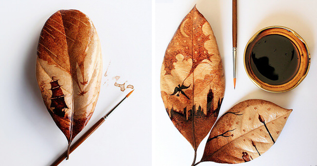 coffee-stained-paintings-on-leaves-cover