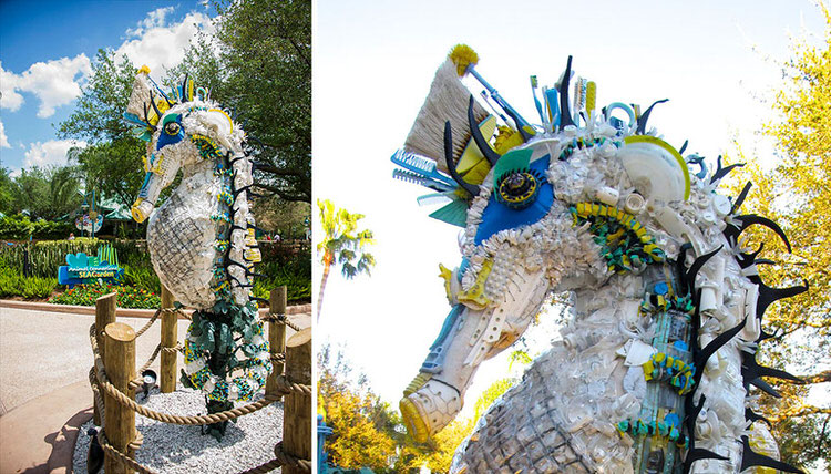 13 giant sculptures made of ocean plastic trash top13 for Best out of waste environment
