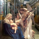 Figures From Classic Paintings Inserted Into Modern World