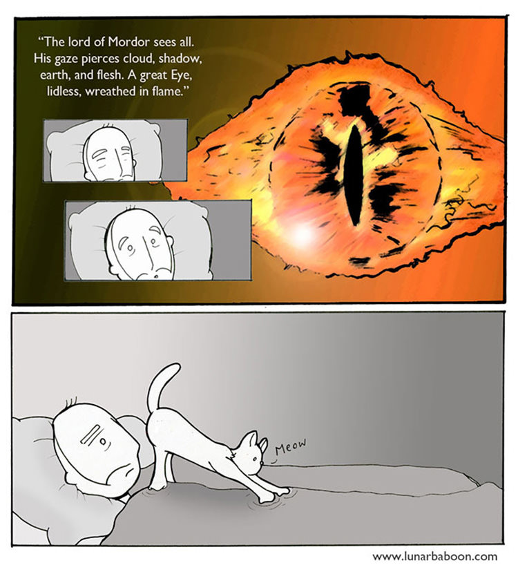 Funny Cat Cartoon Meme : Funny cat comics by lunarbaboon top