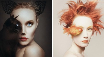 Surreal Self Portraits Replace Artist Eye With An Animal's
