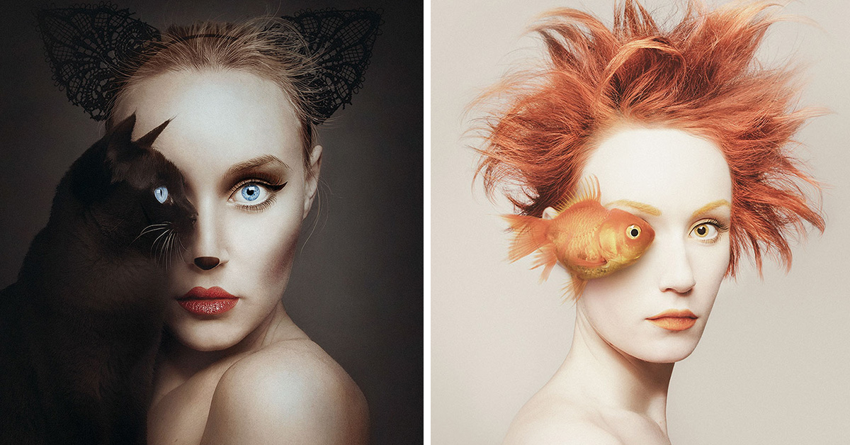 Surreal Self Portraits Replace Artist Eye With An Animal S