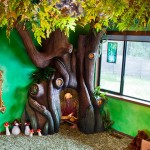 Dad Spends 18 Months Turning Daughter's Bedroom Into Fairytale Treehouse