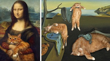 Artist Inserts His Ginger Cat Into Famous Masterpieces