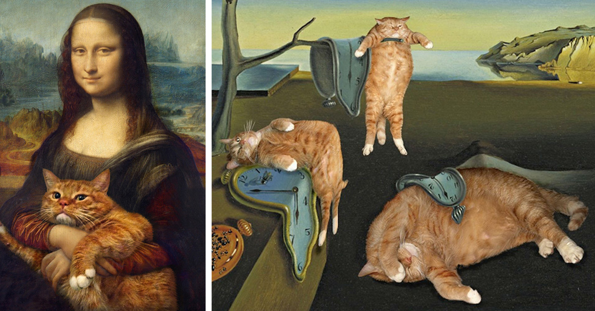 Artist Inserts His Ginger Cat Into Famous Masterpieces Top13