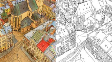 This Creative Adult Coloring Book Provides A Relaxing Way to Explore the World