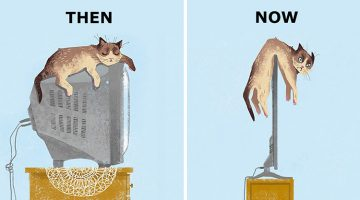 Then vs Now: How Cats' Lives Changed Because Of Technology (15 Photos)