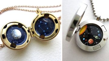 Tiny Astronomy Lockets That Hide A Galaxy Inside