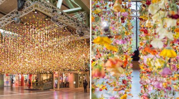 A Live Garden Suspended In The Air By Artist Rebecca Louise Law