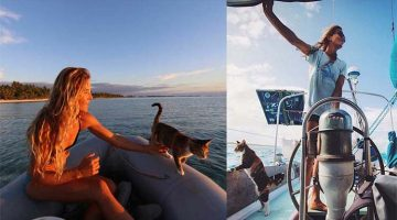 Woman Takes Her Cat On Sailing Adventures All Over The World
