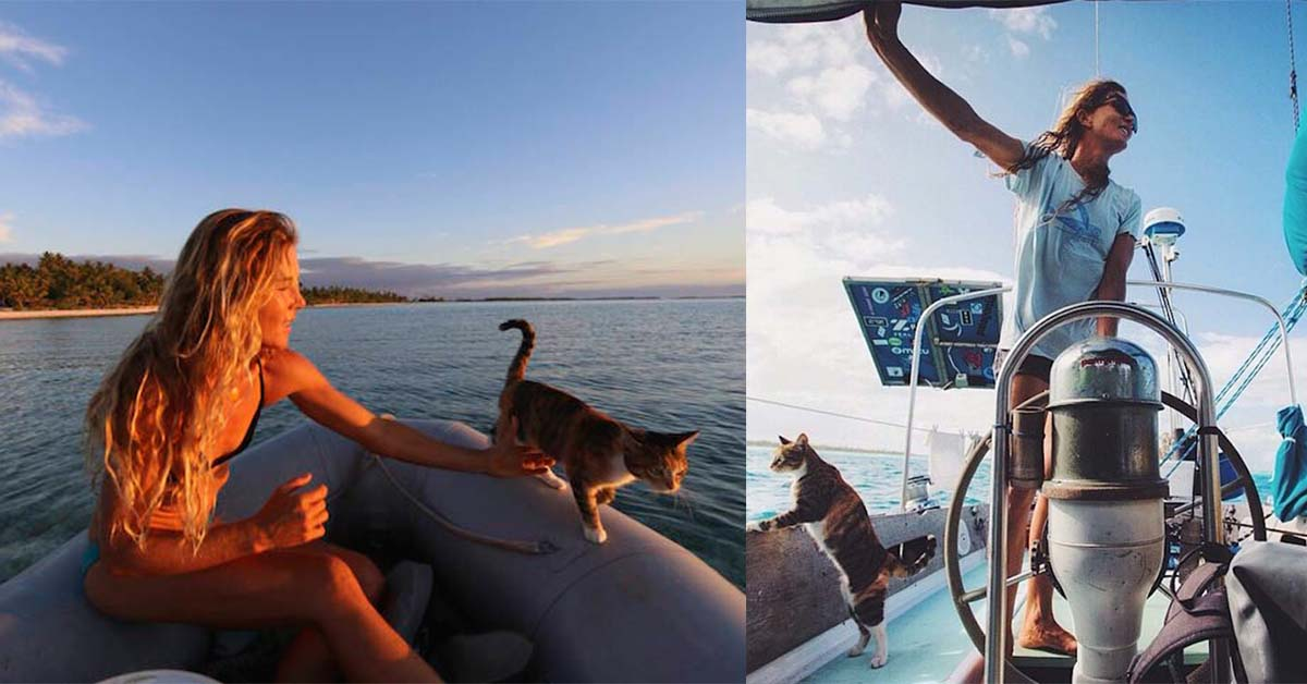 Woman Takes Her Cat On Sailing Adventures All Over The