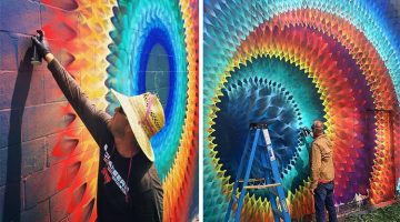 Artist Creates Kaleidoscopic Murals On The Streets Of Miami