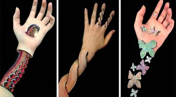 Artist Turns Her Arms Into Optical Illusions