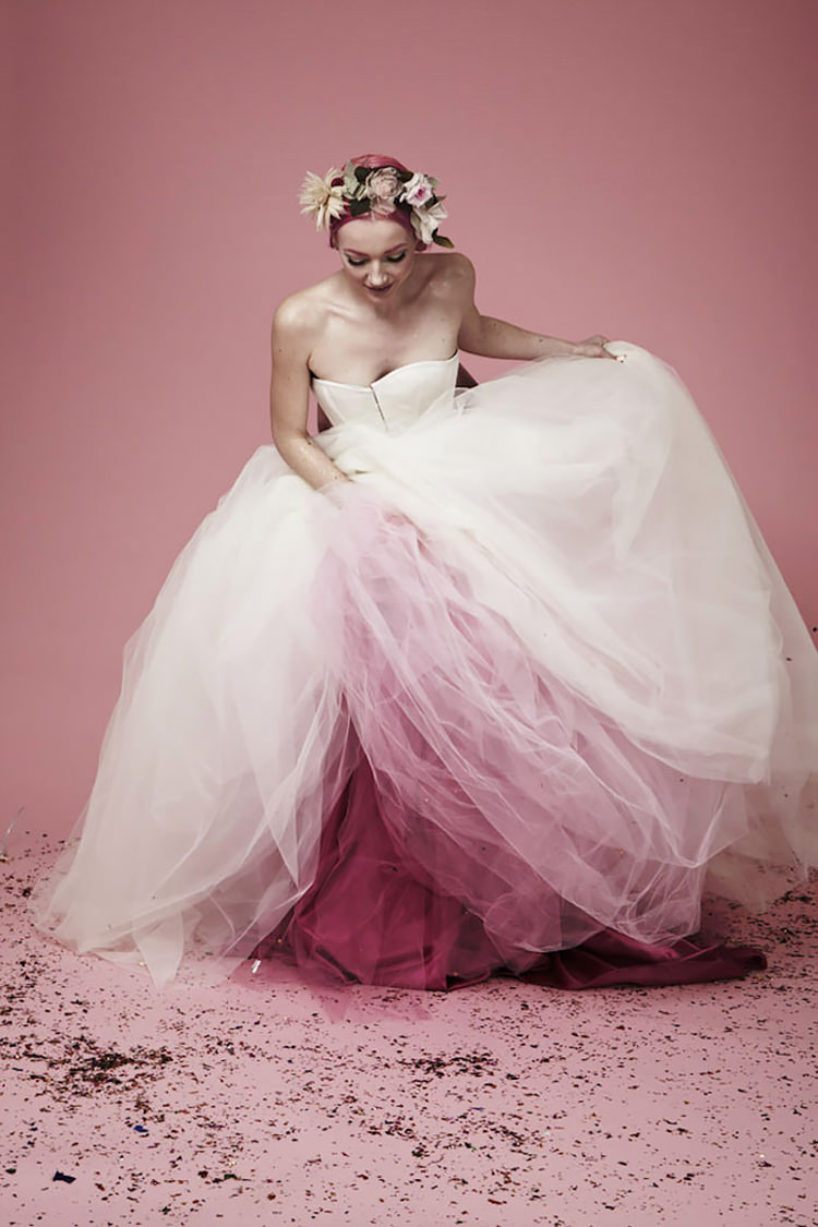 Dip Dye Wedding Dress Will Make Any Bride The Most Colorful One | Top13