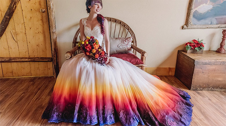 Dip Dye Wedding Dress Will Make Any Bride The Most Colorful One