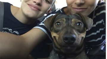 This Selfie Shows Everything That's Right About Pet Adoption