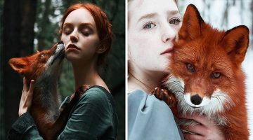 Stunning Portraits Of Redheads Paired With Red Foxes