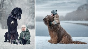 Photographer Captures Little Kids And Their Big Dogs