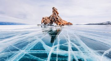 Stunning Pictures Of Frozen Baikal, The Oldest And Deepest Lake In The World