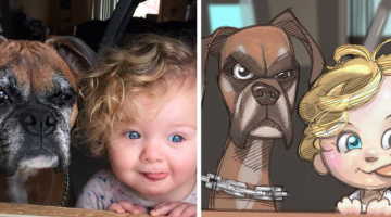 10 Pets and Their Humans Become Cartoons