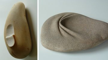 Spanish Artist Makes Rocks Look Like Putty By Twisting, Folding And Peeling Them