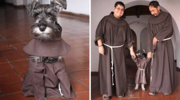 Rescue Dog was Made a Friar and Given His Own Habit to Boot!