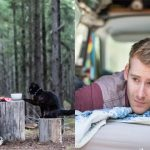 Guy Quits His Job To Travel In A Van Around Australia With His Cat